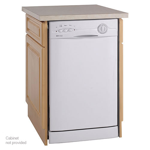 New avanti energy star 18 compact built in dishwasher white for Small dishwashers for small kitchens